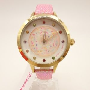 NWT BETSEY JOHNSON Donut Watch Pink Strap